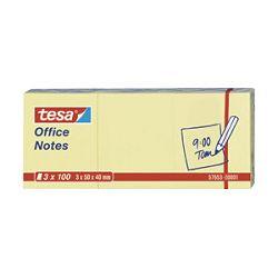 Blok samoljepljiv  40x50mm 3x100L Office notes Tesa žuti
