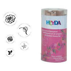 Žig s motivom 5 uzoraka drveni Ruža Heyda 2048884 42