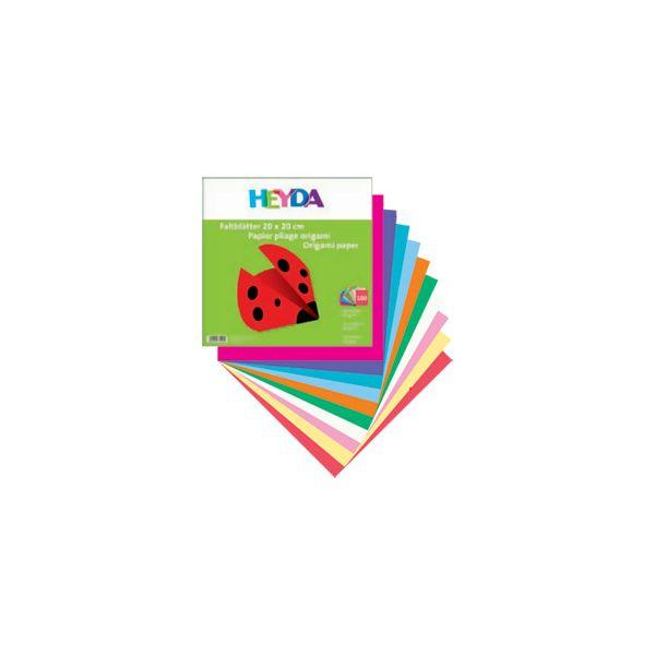 Papir Origami 10x10cm 60g pk100 Heyda 204875510