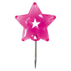 Čavlići u boji za pluto ploču pk50 Color Code Brunnen pink blister