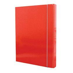 Mapa s gumicom hrbat30mm A4 karton Fornax crvena