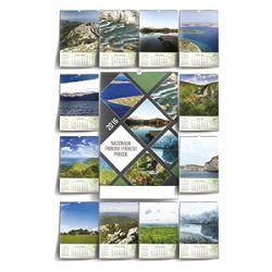 Kalendar Nacionalni parkovi i Parkovi Prirode 2016 13 listova spirala