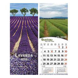 Kalendar Lavanda uski okomiti 13 listova spirala