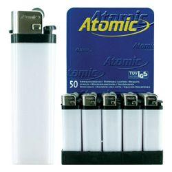 Upaljač jednokratni sjajni Atomic Reibrad Trober 3947105 bijeli