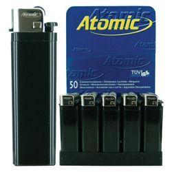 Upaljač jednokratni sjajni Atomic Reibrad Trober 3947205 crni