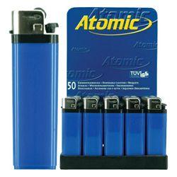 Upaljač jednokratni sjajni Atomic Reibrad Trober 3947305 plavi