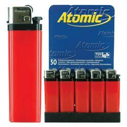 Upaljač jednokratni sjajni Atomic Reibrad Trober 3947405 crveni