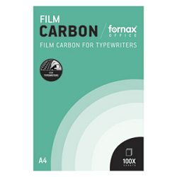 Karbon strojni film A4 pk100 Fornax crni