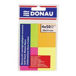 Blok samoljepljiv  38x51mm 4x50L Donau 7578 neon blister
