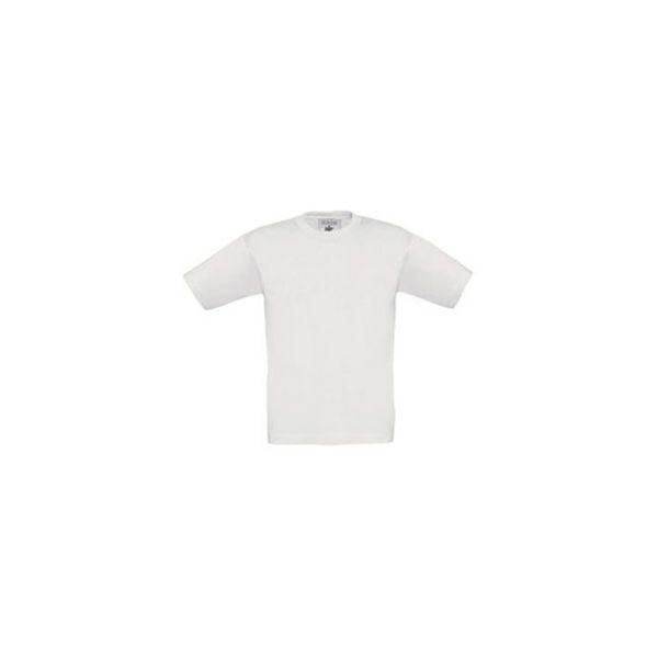 Majica kratki rukavi BC Exact Kids 150g bijela 34