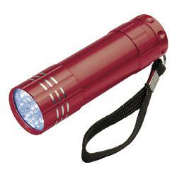 Svjetiljka ručna  9 LED metalna Easy 1904 crvena