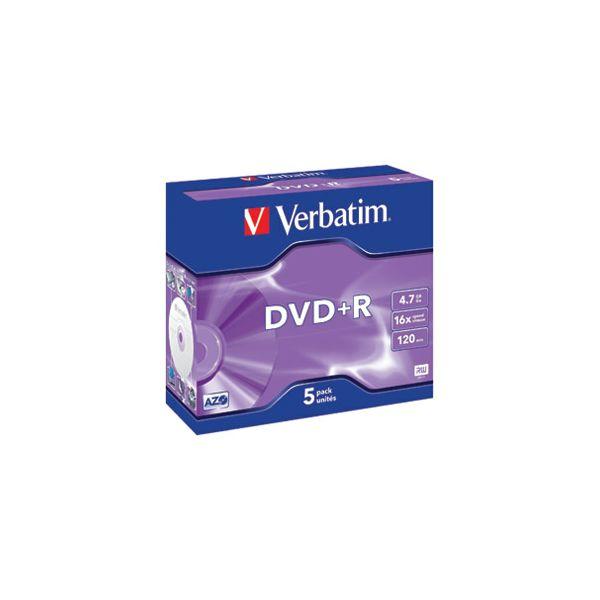 DVDR 47GB120min 16x JC Mat Silver Verbatim 43497