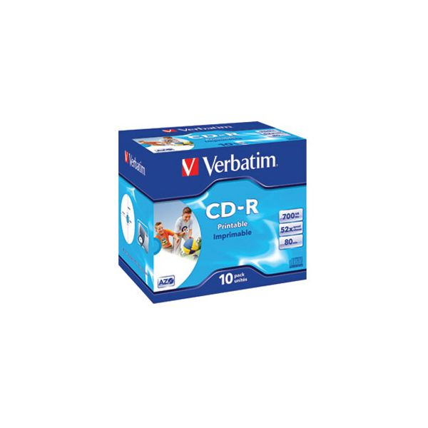 CDR 70080 52x JC AZO printable Verbatim 43325