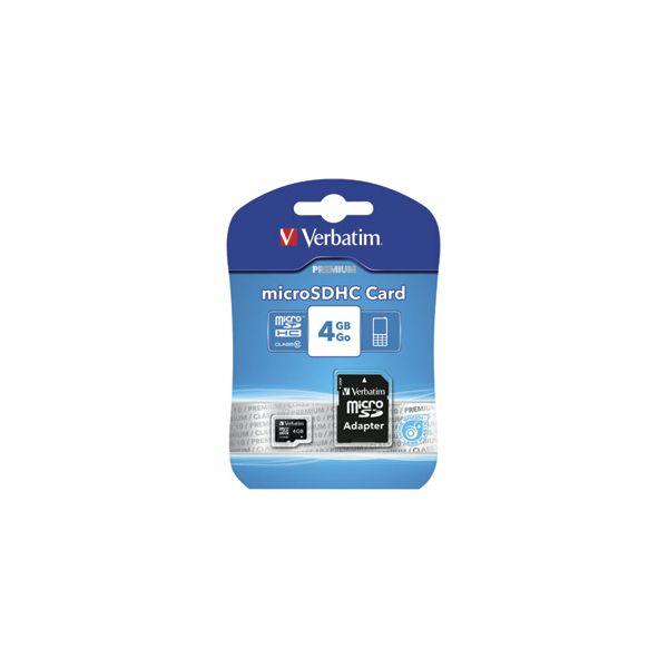 Kartica memorijska micro SDHC  4GB Verbatim 44080 blister