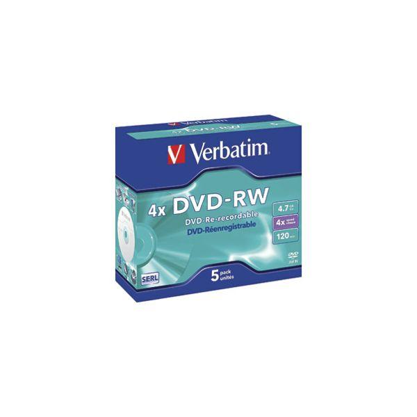 DVDRW 47120 4x JC Mat Silver Verbatim 43285