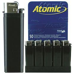 Upaljač jednokratni sjajni Atomic Reibrad crni