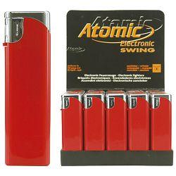 Upaljač elektronski sjajni Atomic Swing crveni