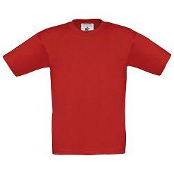 Majica kratki rukavi B&C Exact Kids 150g crvena 5/6
