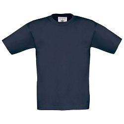 Majica kratki rukavi B&C Exact Kids 150g tamno plava 3/4