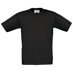 Majica kratki rukavi B&C Exact Kids 150g crna 3/4