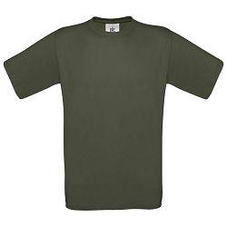 Majica kratki rukavi B&C Exact 150g maslinasto zelena L!!