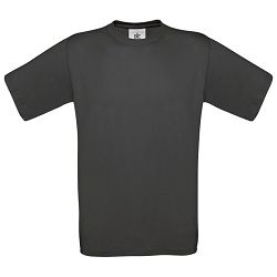 Majica kratki rukavi B&C Exact 150g isprana crna XL!!