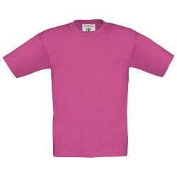Majica kratki rukavi B&C Exact Kids 150g roza 12/14