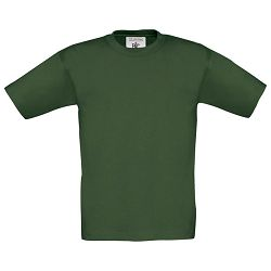 Majica kratki rukavi B&C Exact Kids 150g tamno zelena 3/4