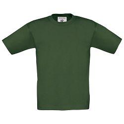 Majica kratki rukavi B&C Exact Kids 150g tamno zelena 7/8