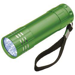 Svjetiljka ručna  9 LED metalna zelena