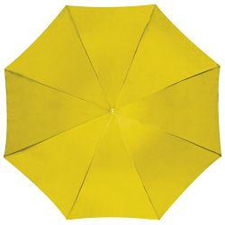 Kišobran automatik s drvenom drškom žuti