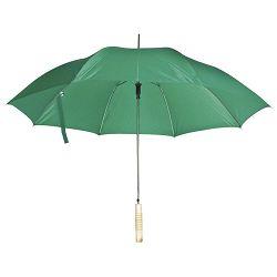 Kišobran automatik s drvenom drškom zeleni