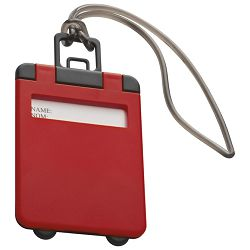 Privjesnica za prtljagu za osobne podatke crvena