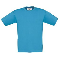 Majica kratki rukavi B&C Exact Kids 150g atol plava 3/4