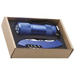 Svjetiljka ručna  9 LED+nož u EKO pakiranju plava