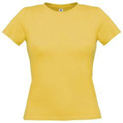 Majica kratki rukavi B&C Women-Only 150g isprana žuta L!!