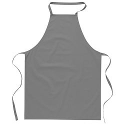 Pregača za kuhanje pamučna 65x90cm siva