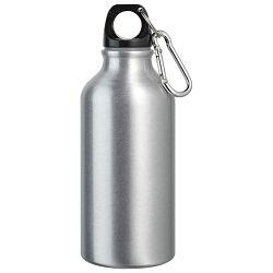 Boca za piće aluminijska 400ml sa karabinerom srebrna!!