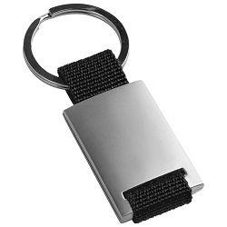 Privjesak za ključeve metal-textil crni