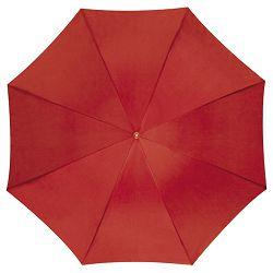 Kišobran automatik s drvenom drškom crveni