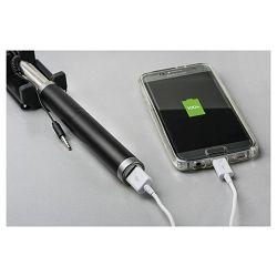 Štap za selfie sa punjačem za mobitel crni
