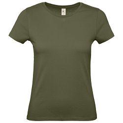 Majica kratki rukavi B&C #E150/women maslinasto zelena L
