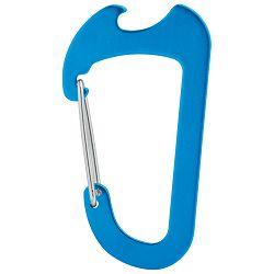 Karabin-otvarač za bocu metalni plavi