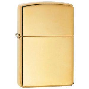 Upaljač metalni sjajni Zippo 254B zlatni