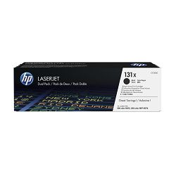 HP 131X 2-pack High Yield Black Orig Toner CF210XD