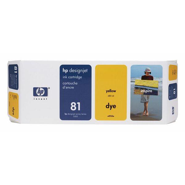 HP C4933A No.81 Yellow Orginalna tinta