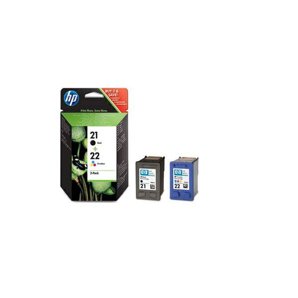 HP SD367AE No.21 Black / No.22 Tri-color Orginalna tinta, 2-pack