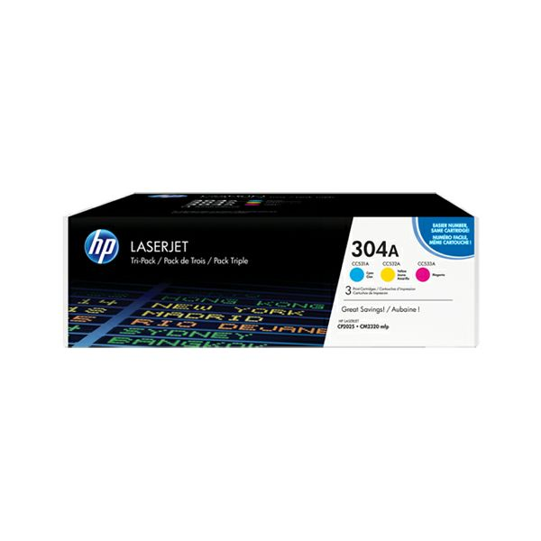 HP CF372AM 304A C/M/Y Orginalni toner, komplet color tonera