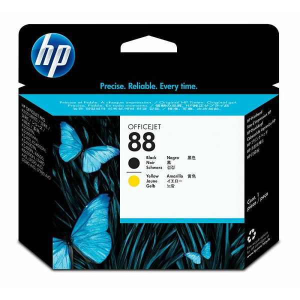 HP C9381A No.88 Black/Yellow Orginalna glava