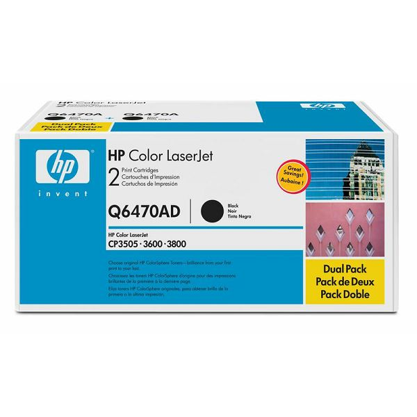 HP Q6470A 501A Black Orginalni toner